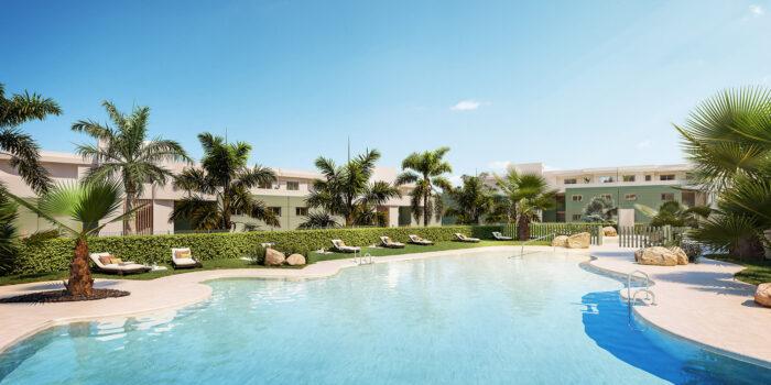 02 Vista piscina hacia Bloque 2 y 3 Ipanema