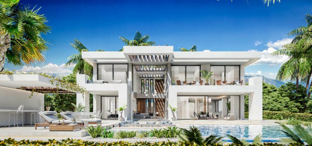 NEW HEIGHTS FRONTAL VIlla A B New Heights INVESTINSPAIN - Nieuwbouwprojecten Marbella