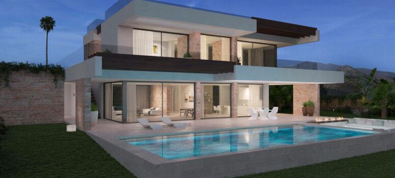 EXTERIORROMANOCIELO Elviria INVESTINSPAIN - Nieuwbouwprojecten Marbella