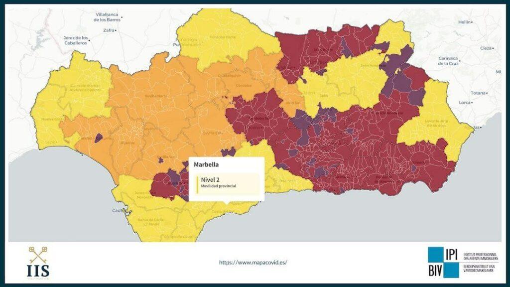 covid costa del sol veiligheid reizen geel code april 2021